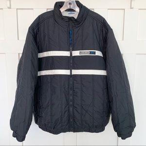 Reebok black and white striped Coat